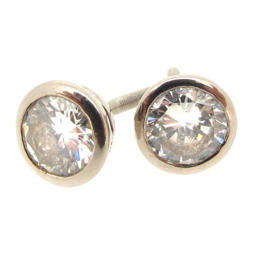 18ct Gold & Diamond Stud Earrings