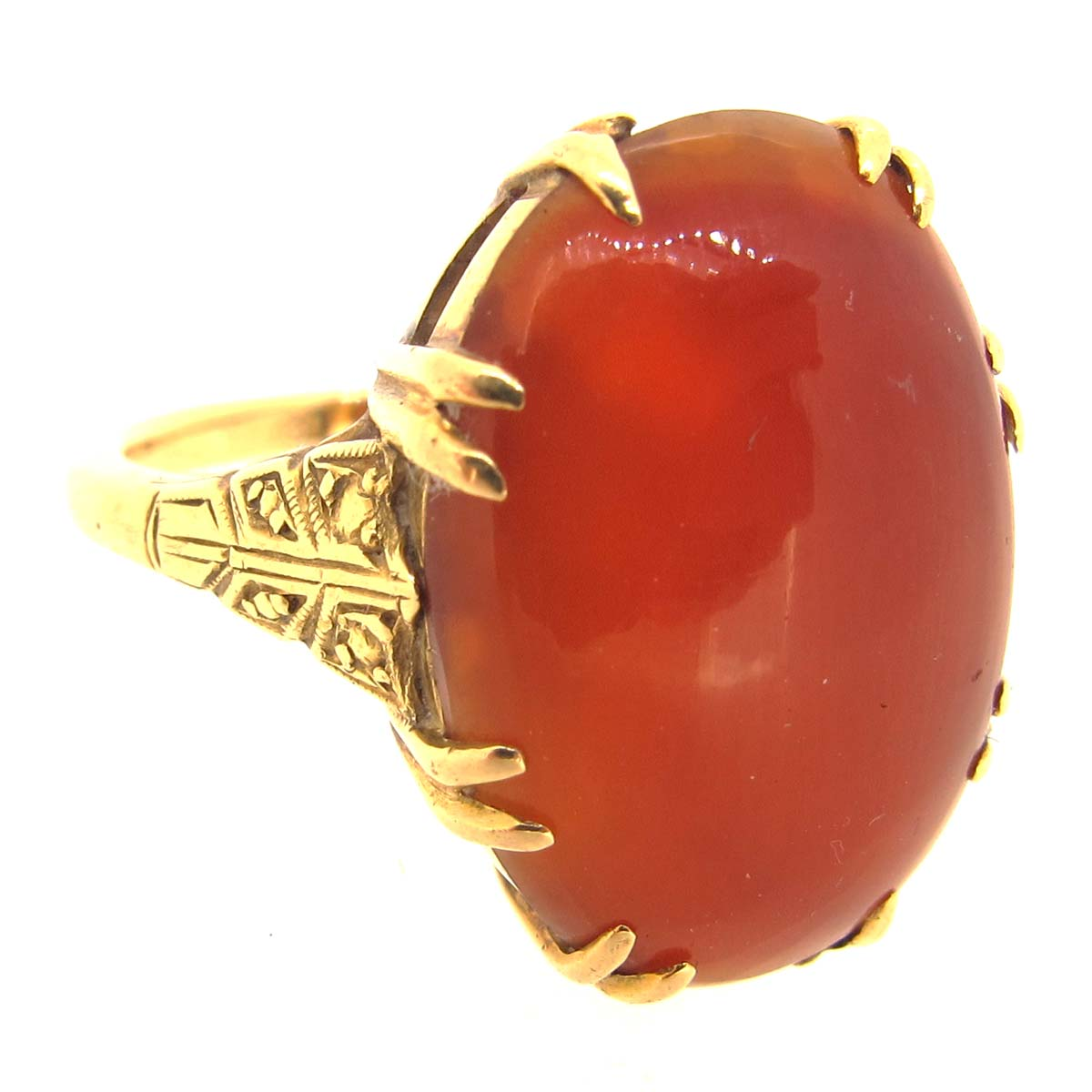 18ct Gold & Carnelian Ring