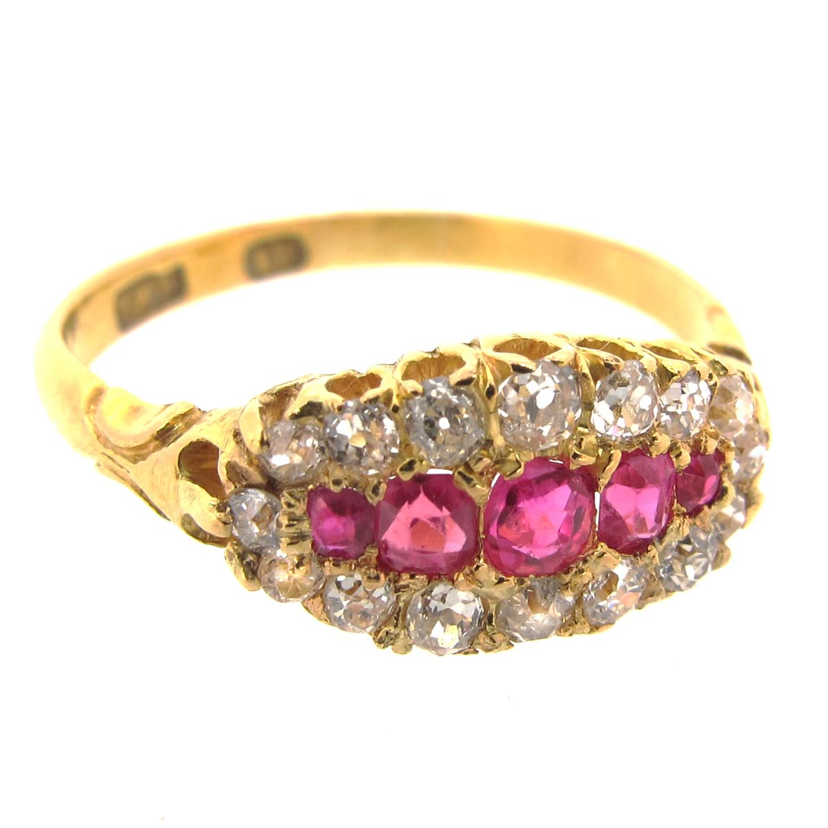 Antique Gold, Ruby & Diamond ring