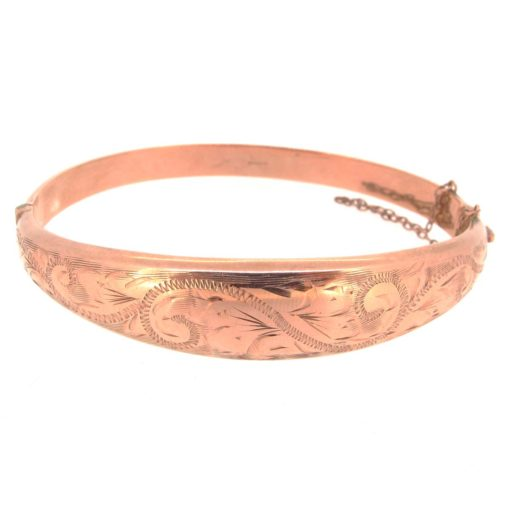 Gold Engraved Bangle