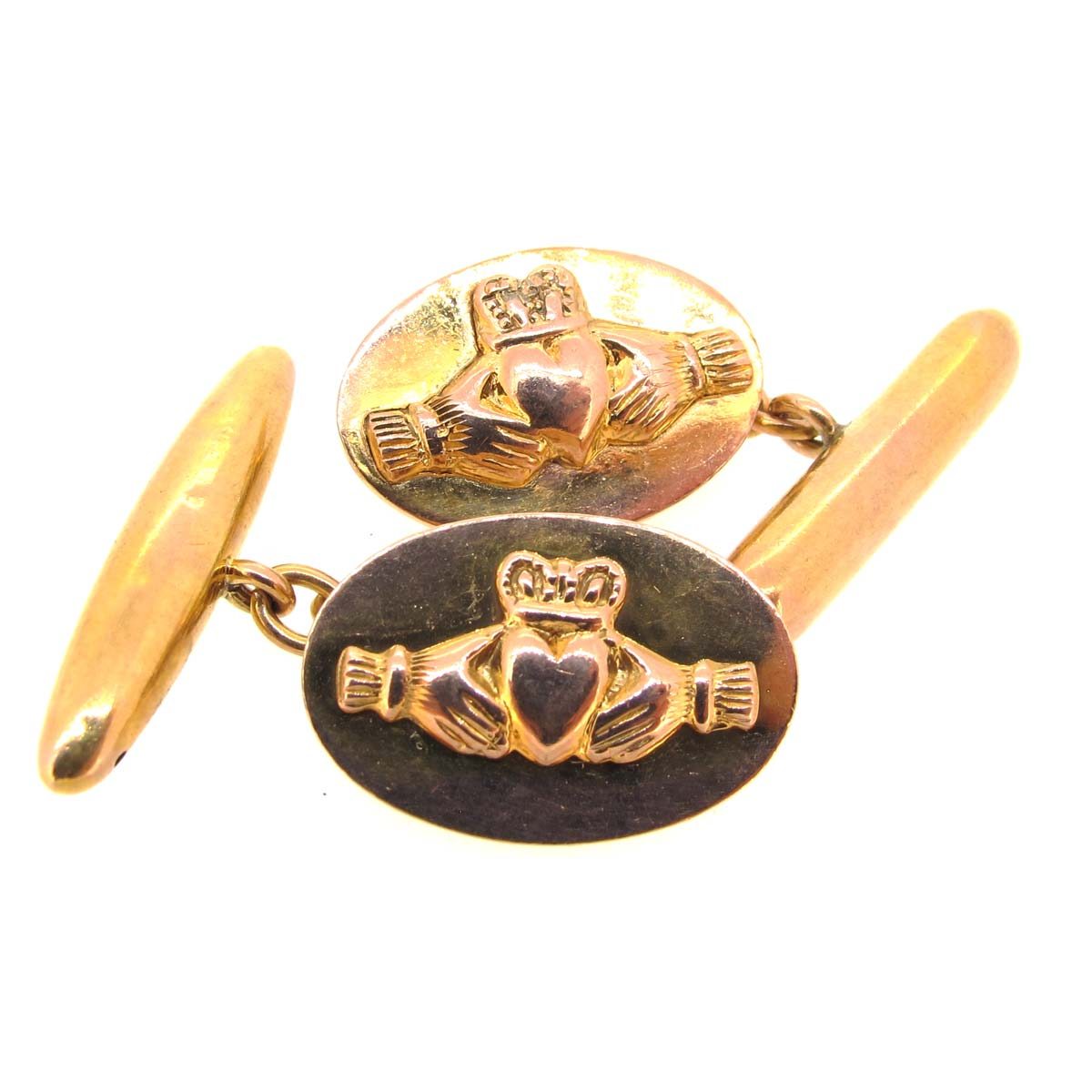 Gold Claddagh Cufflinks