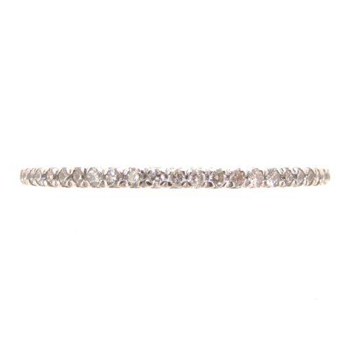 White Gold & Diamond Narrow Eternity Ring