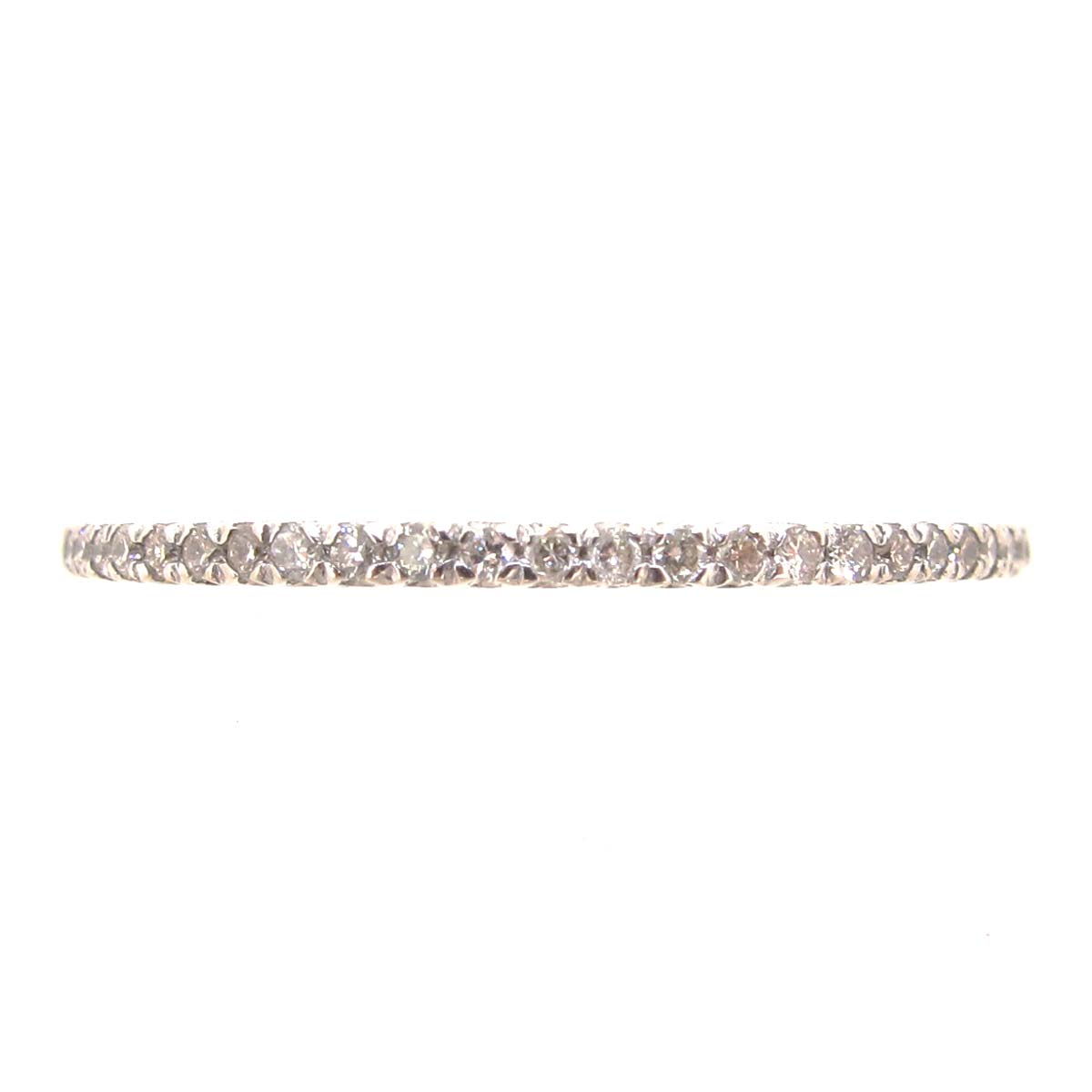 White Gold & Diamond Narrow Eternity Ring