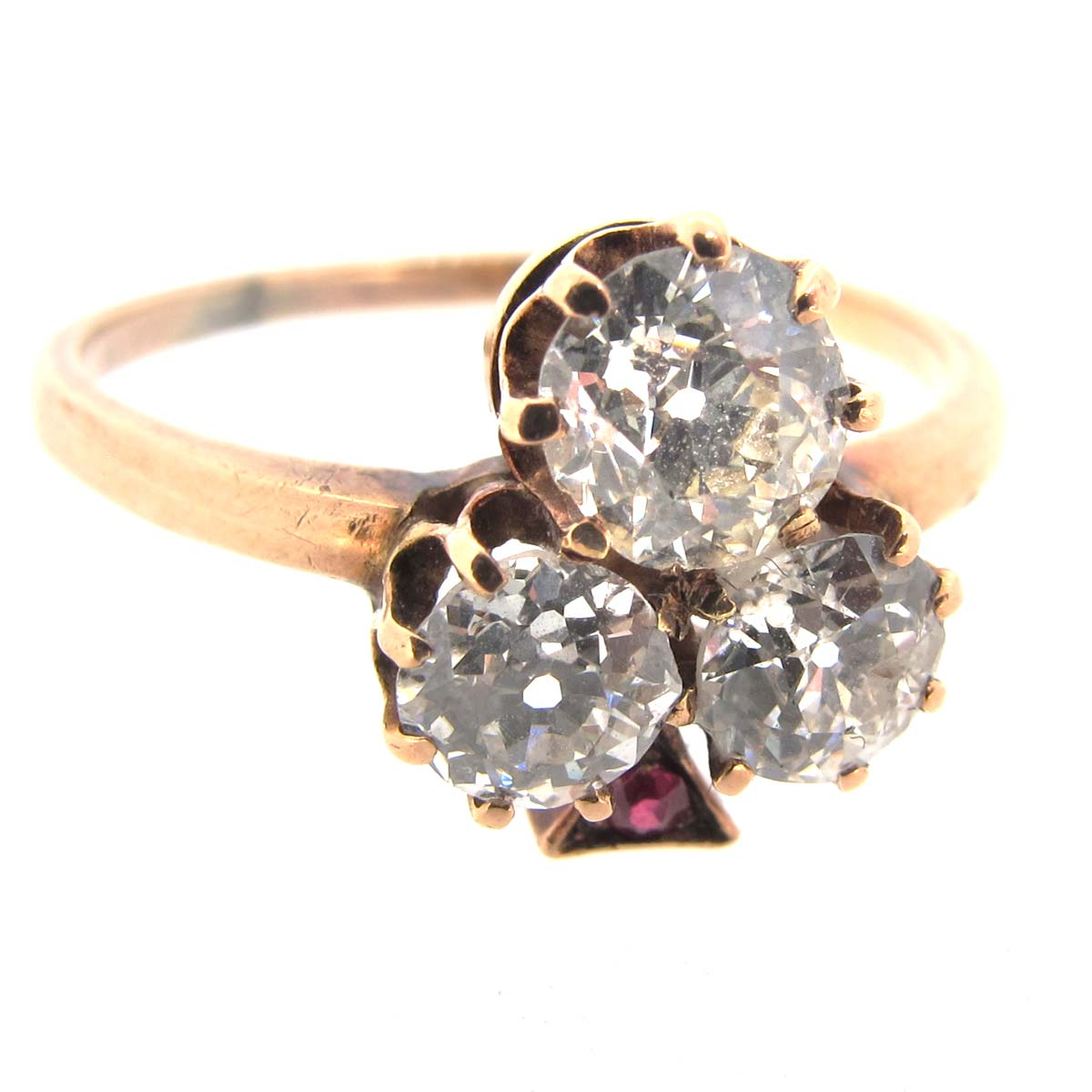 Antique Diamond Trefoil Ring