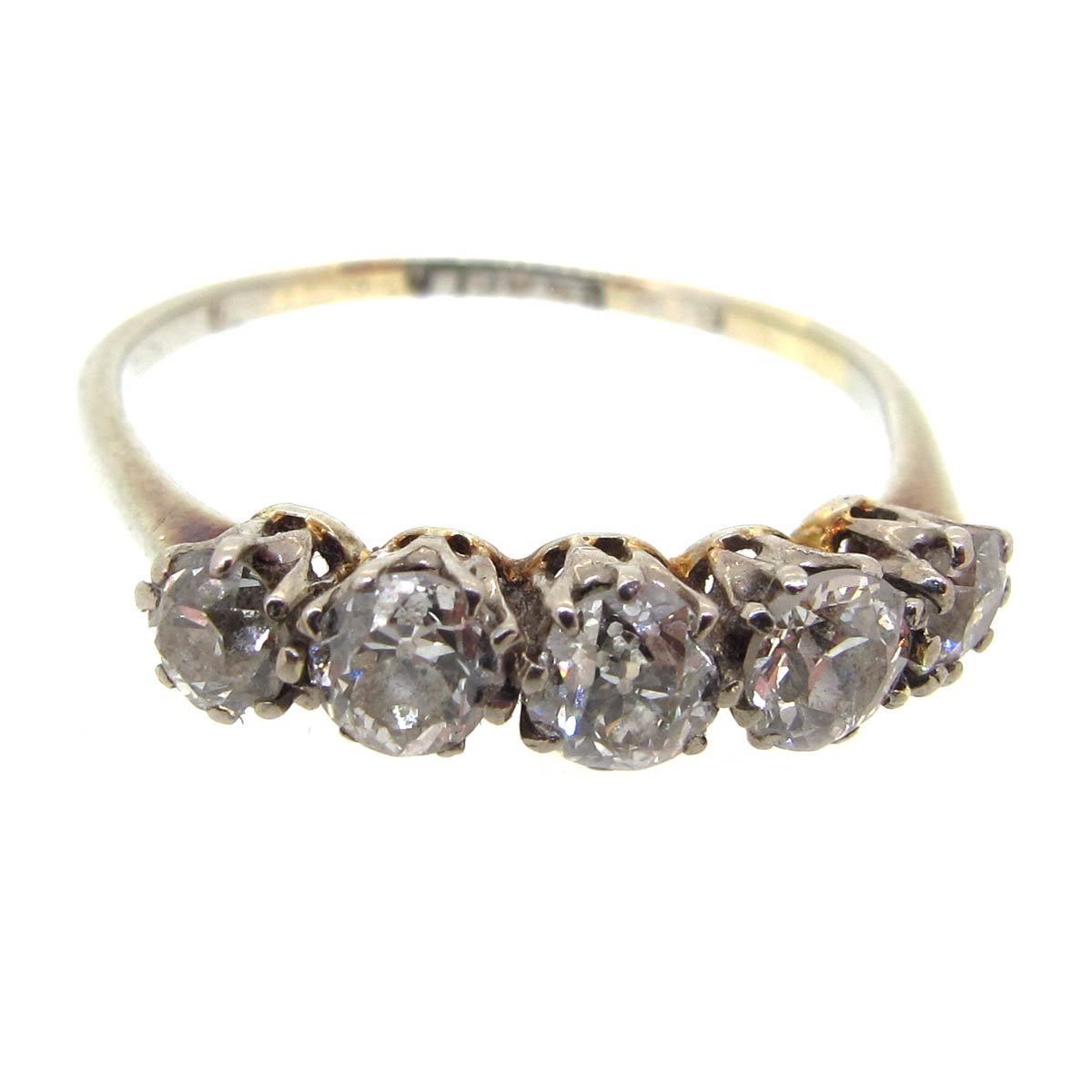 Antique Diamond 5 Stone Ring