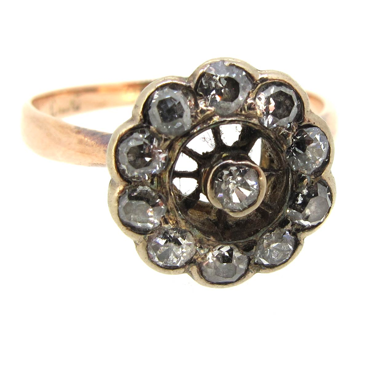 Edwardian Daisy Cluster Ring