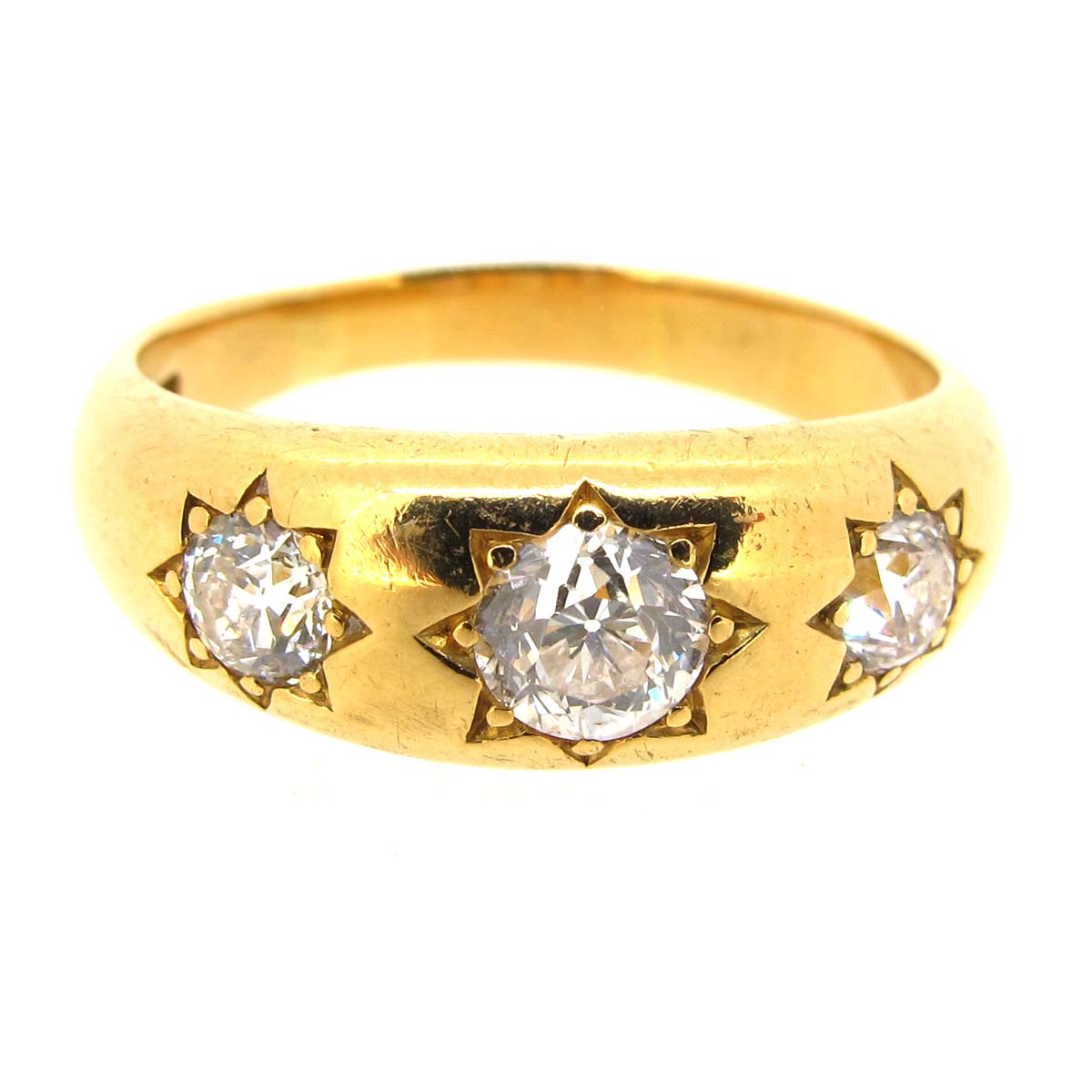 Gold & Diamond 3 Stone Ring