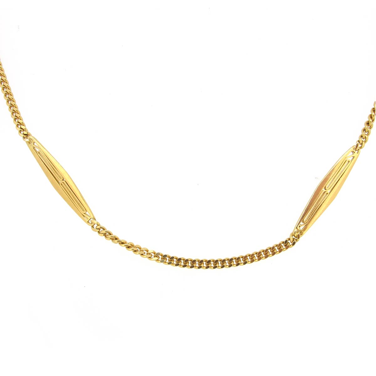 18ct Gold Long Necklace/ Guard Chain