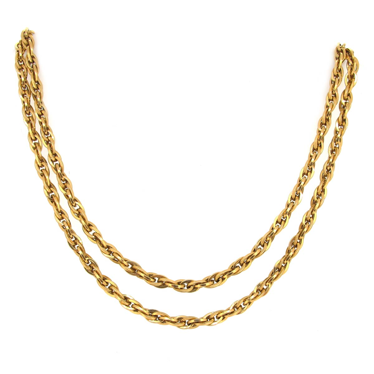 18ct Gold Necklace/ Guard Chain
