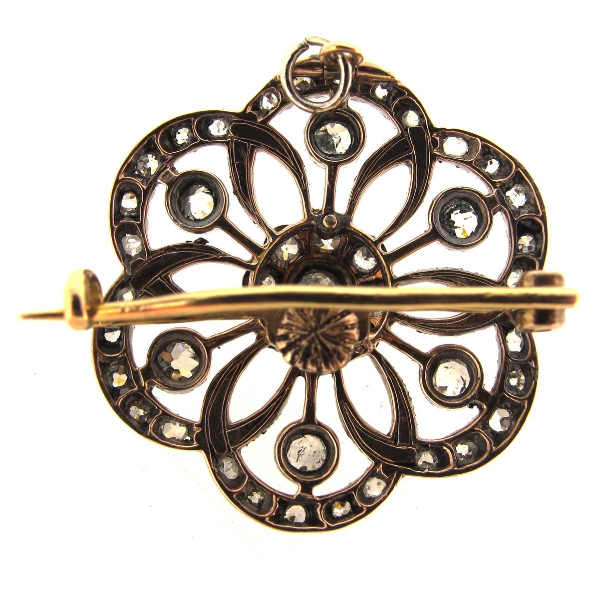 Antique Diamond Brooch/ Pendant