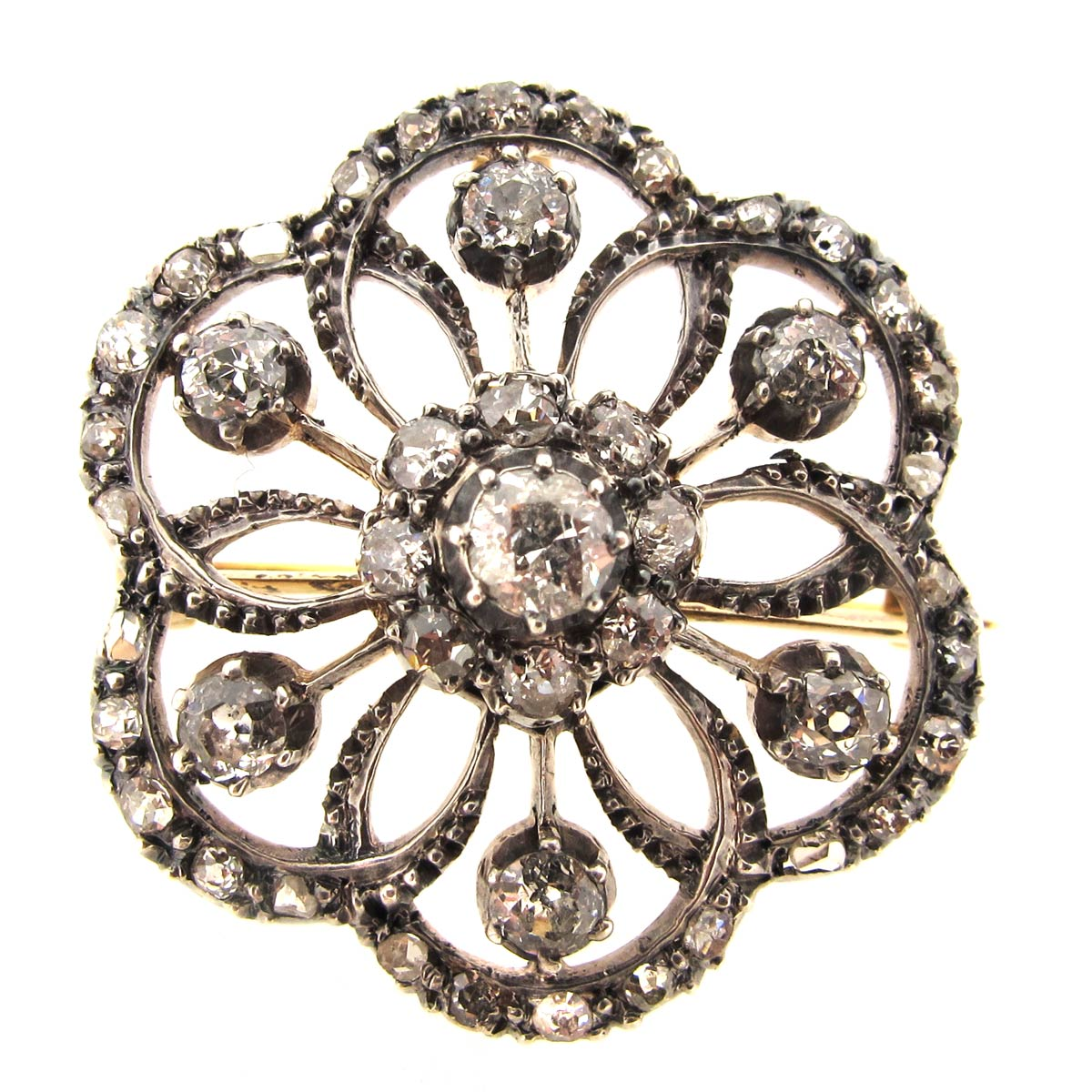 Antique Diamond Brooch/ Pendant