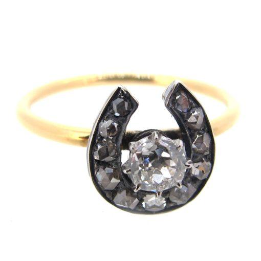 Antique Diamond Horseshoe Ring