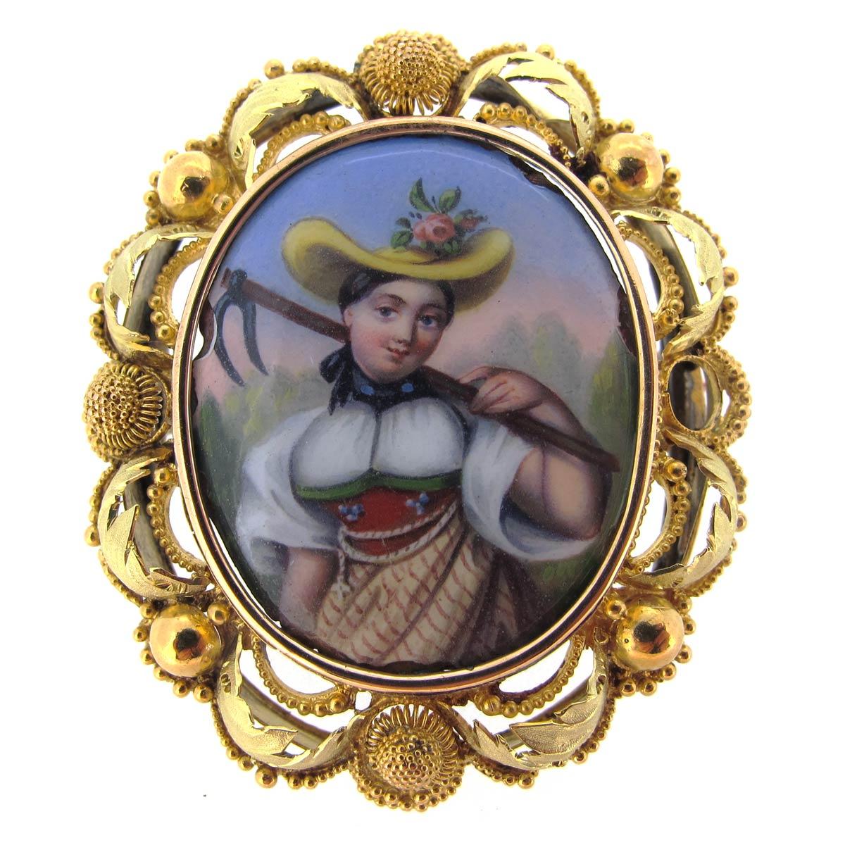 Gold & Enamel Austrian Miniature