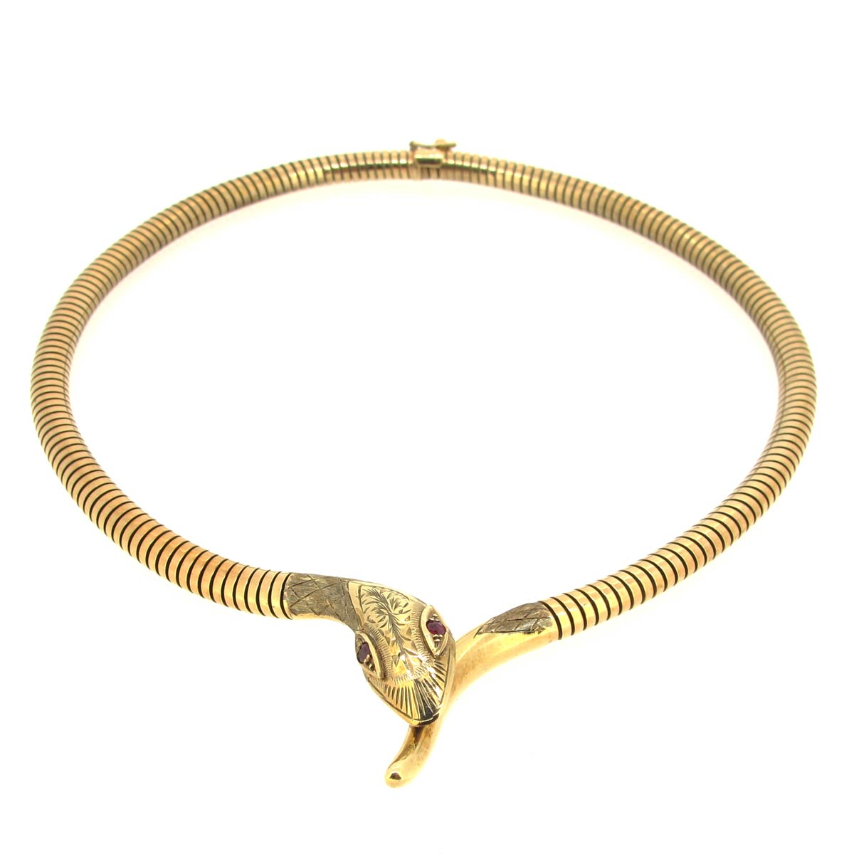 Gold Snake Collar/ Necklace