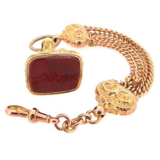 Antique Gold Albert Chain & Fob