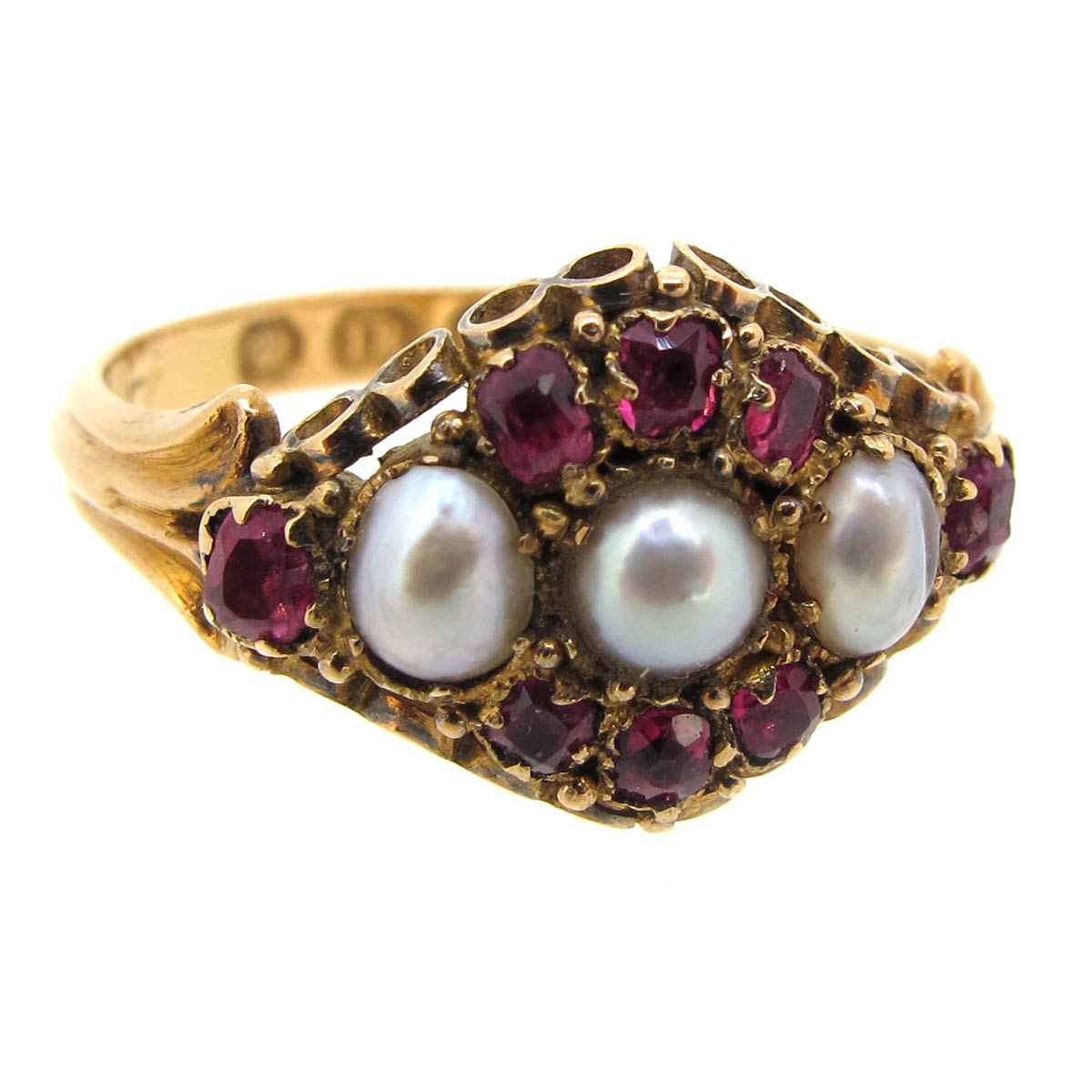 Antique Ruby & Pearl Ring