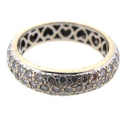 3 Row Diamond Eternity Ring