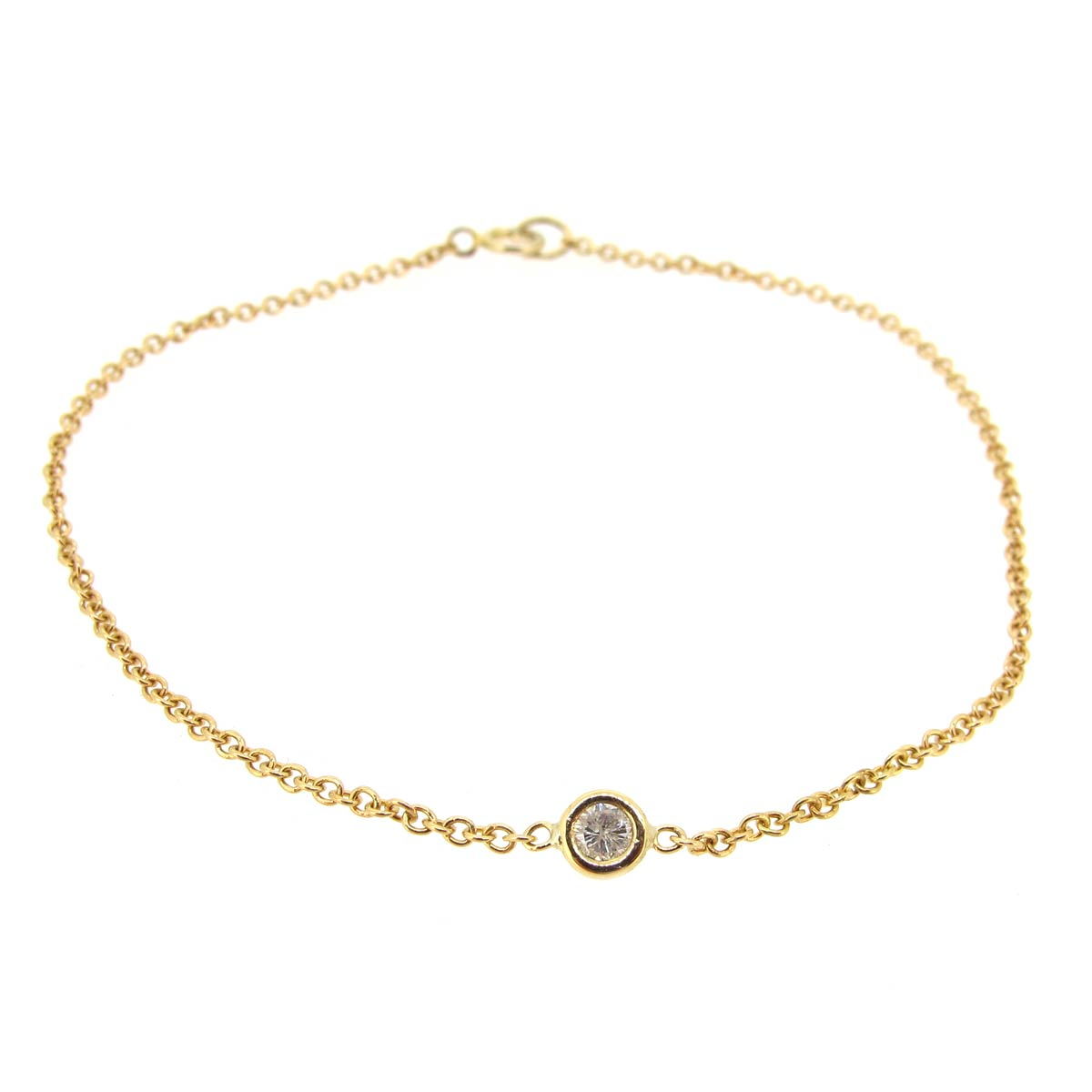 Gold & Single Diamond Bracelet