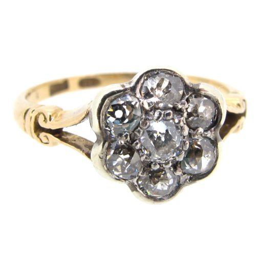 Antique Diamond Daisy Cluster Ring