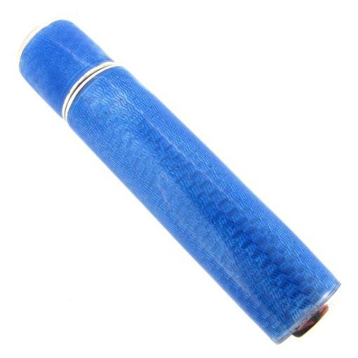 Blue Enamel Lipstick Holder