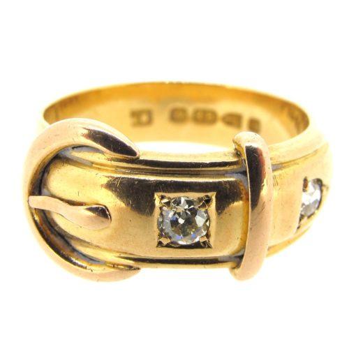 Antique Gold & Diamond Buckle Ring
