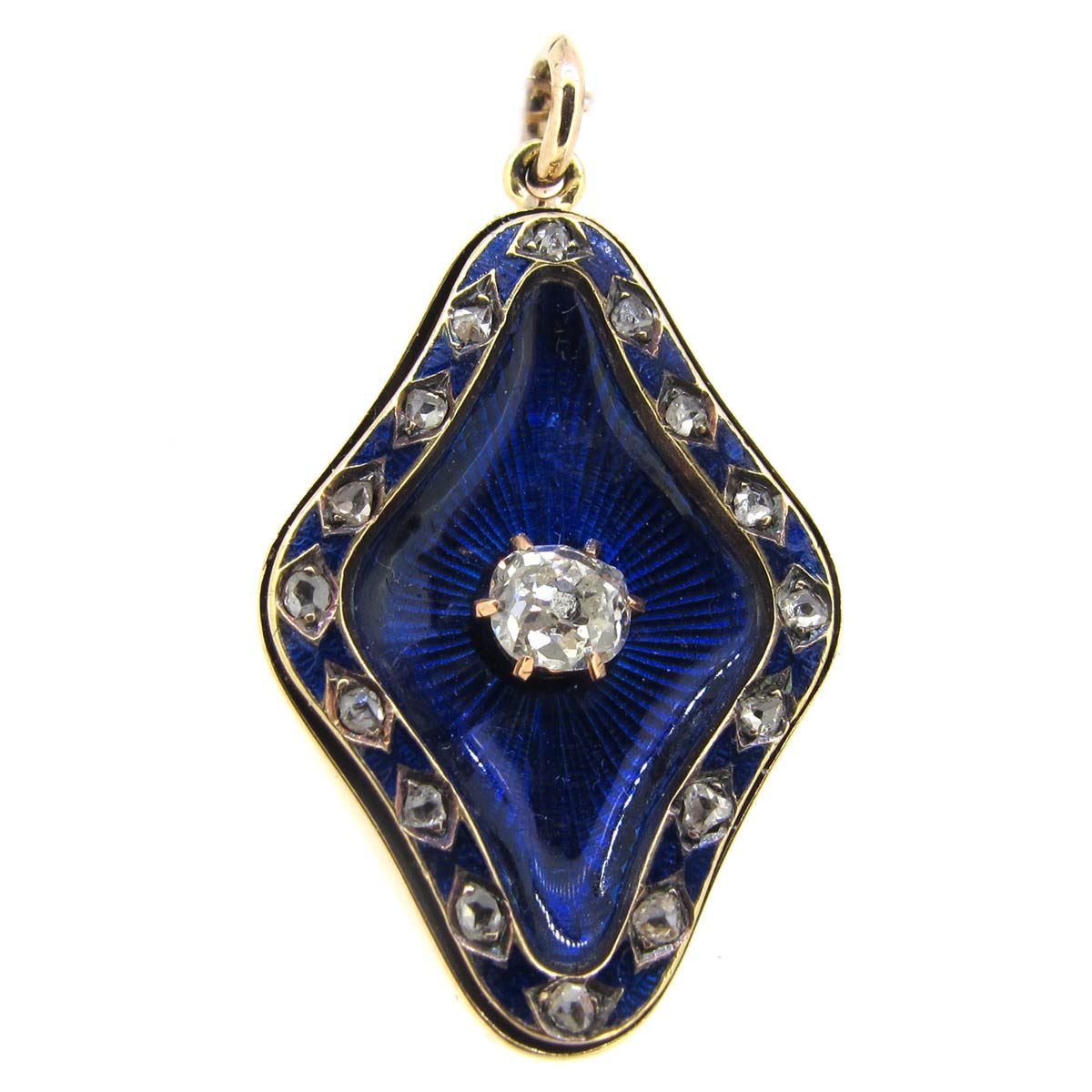 Antique Enamel & Diamond Pendant