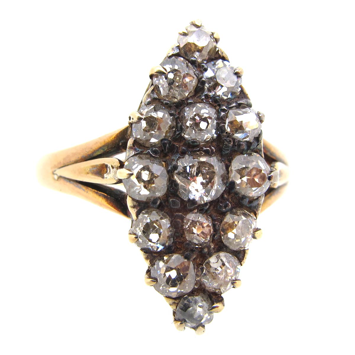 Antique Diamond Navette Ring