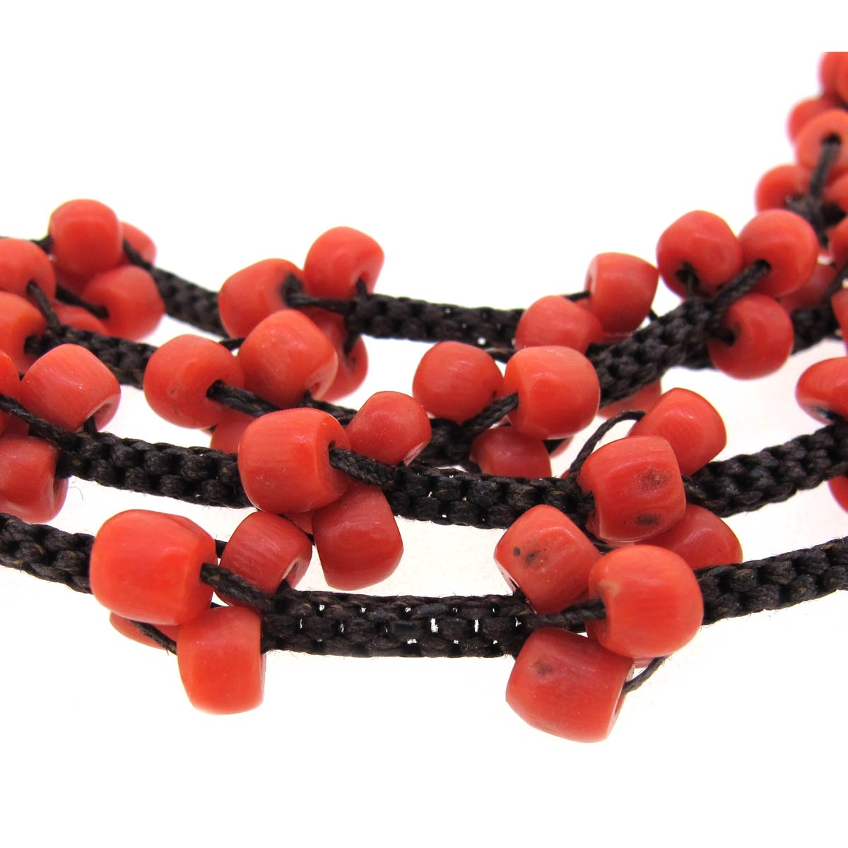 Antique Coral & Hair Necklace