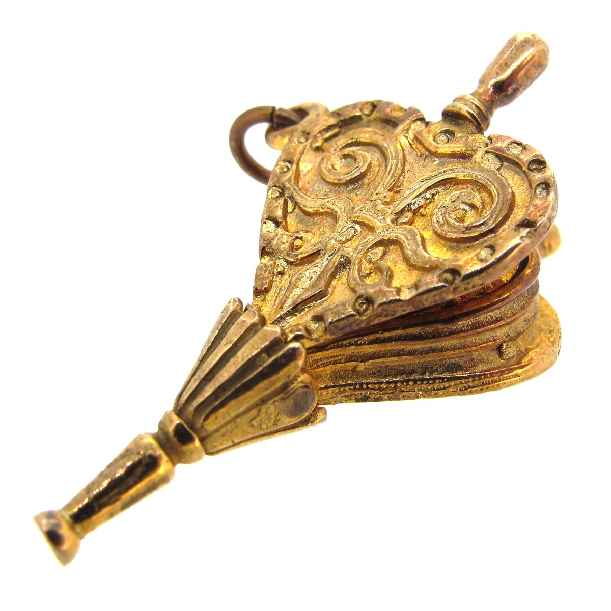 Gold Bellows Charm