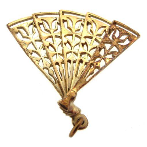 Gold Fan Charm