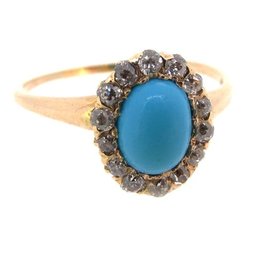Antique Diamond & Turquoise Ring