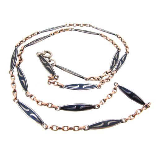 Niello Silver Necklace