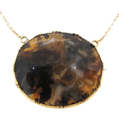 Dendritic Agate Necklace/ Brooch