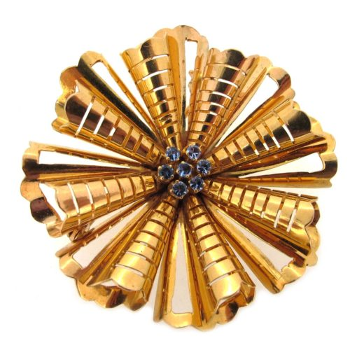 Gold Starburst Brooch