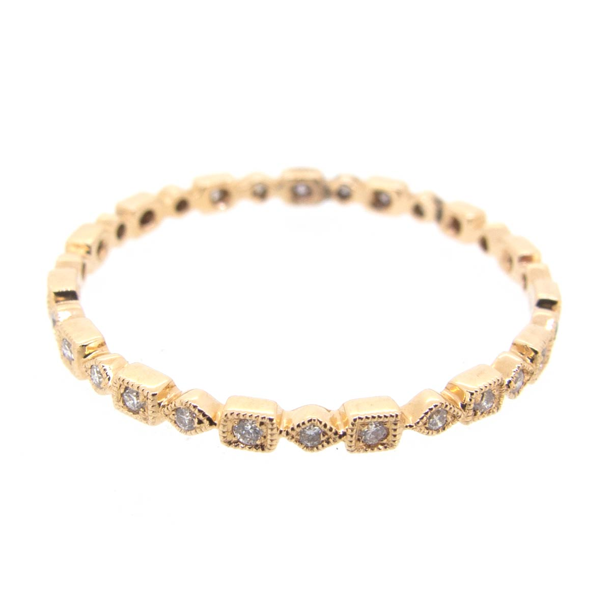 Narrow Rose Gold & Diamond Eternity Ring