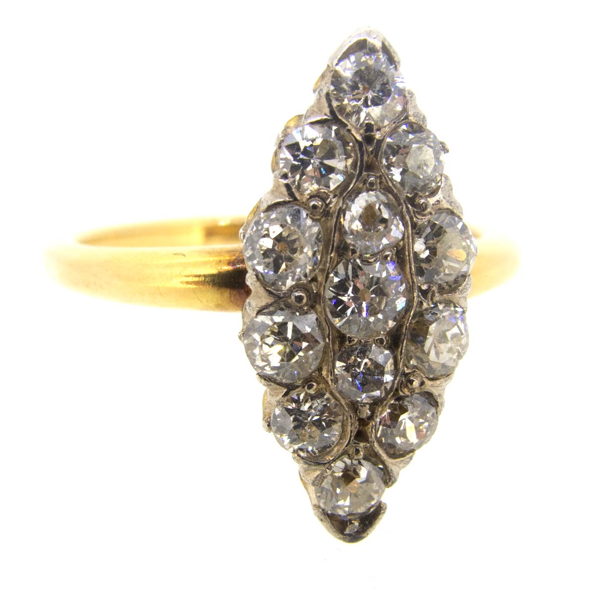 Diamond Marquise Shaped Ring