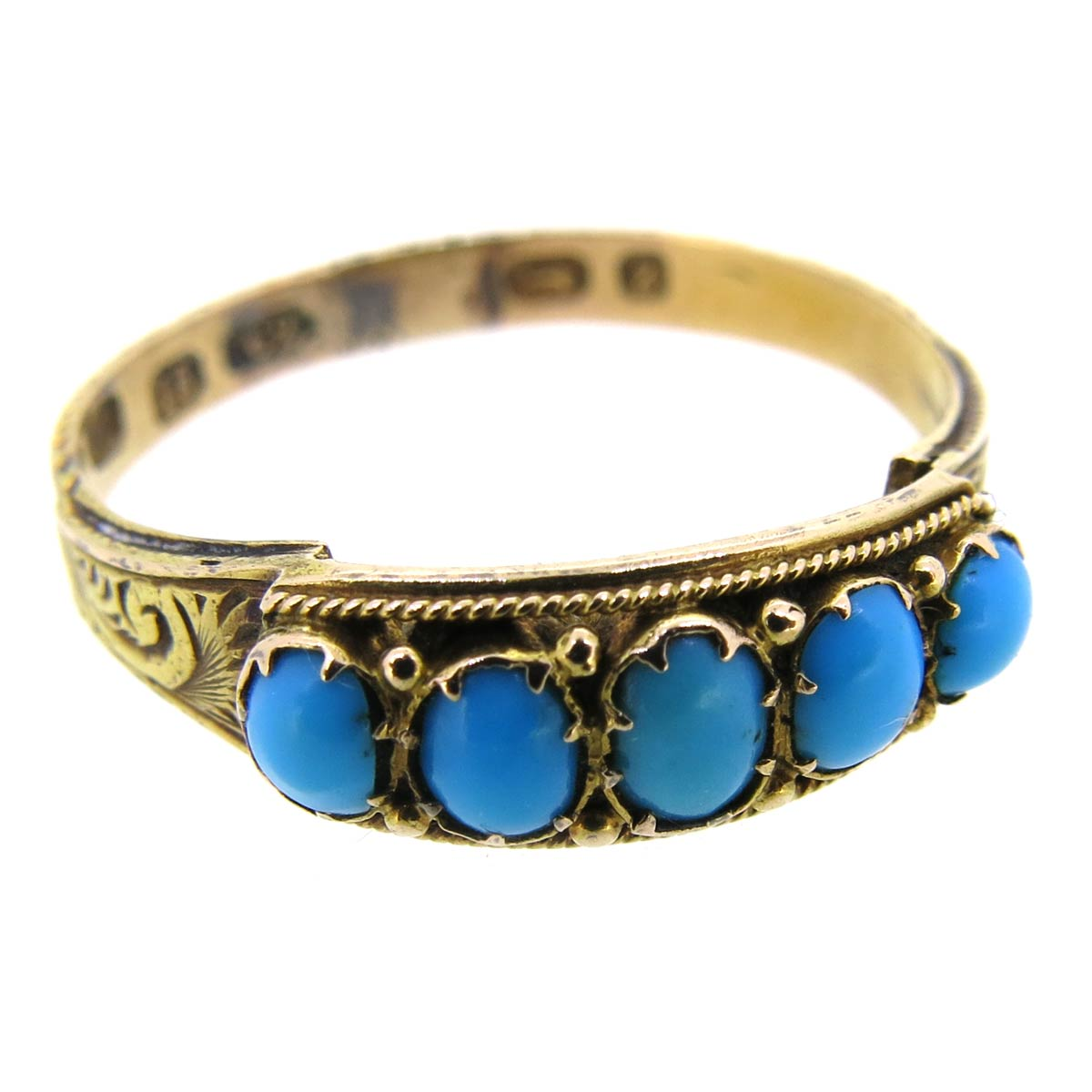 Antique Gold & Turquoise Ring