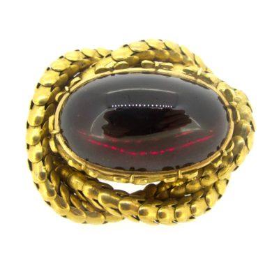 Antique Gold & Garnet Brooch