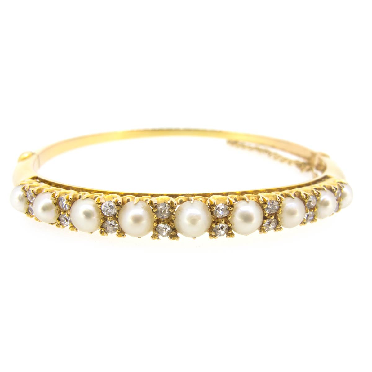 Antique Pearl & Diamond Bangle