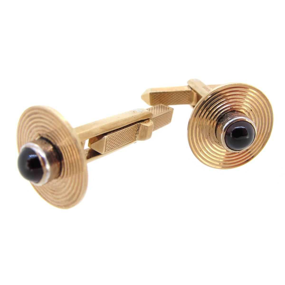 Gold & Garnet Cufflinks