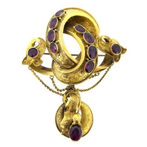 Victorian Gold & Garnet Brooch
