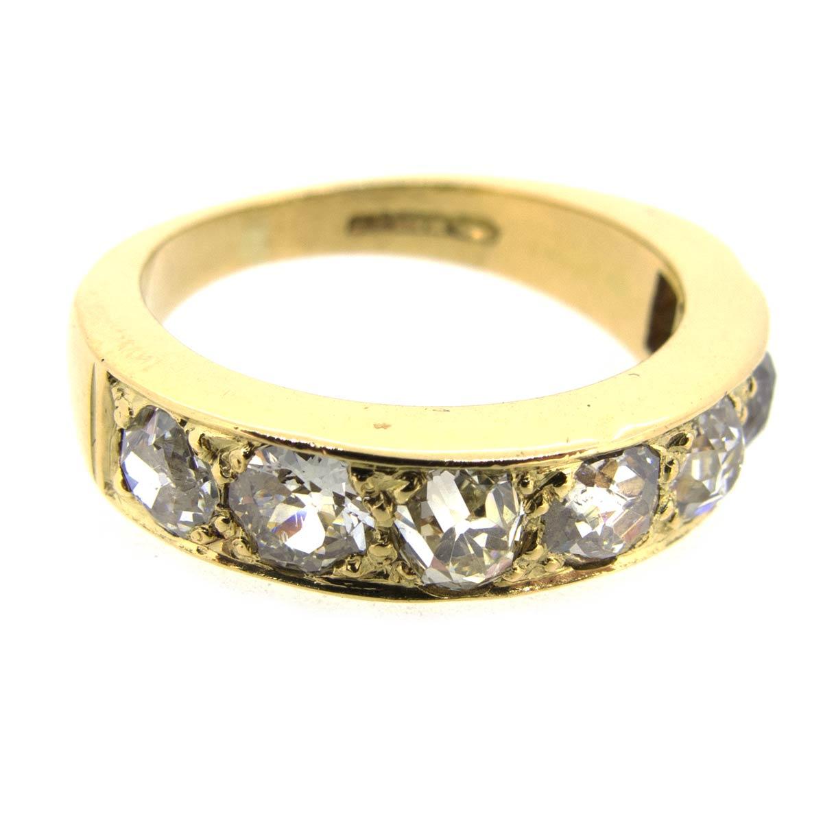 Gold & Diamond Half Eternity Ring