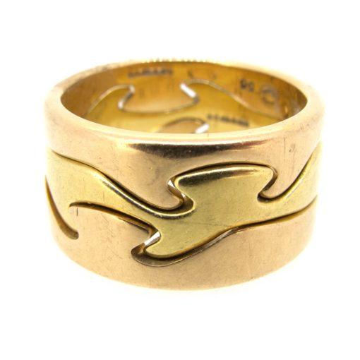 Georg Jensen Gold Puzzle Ring