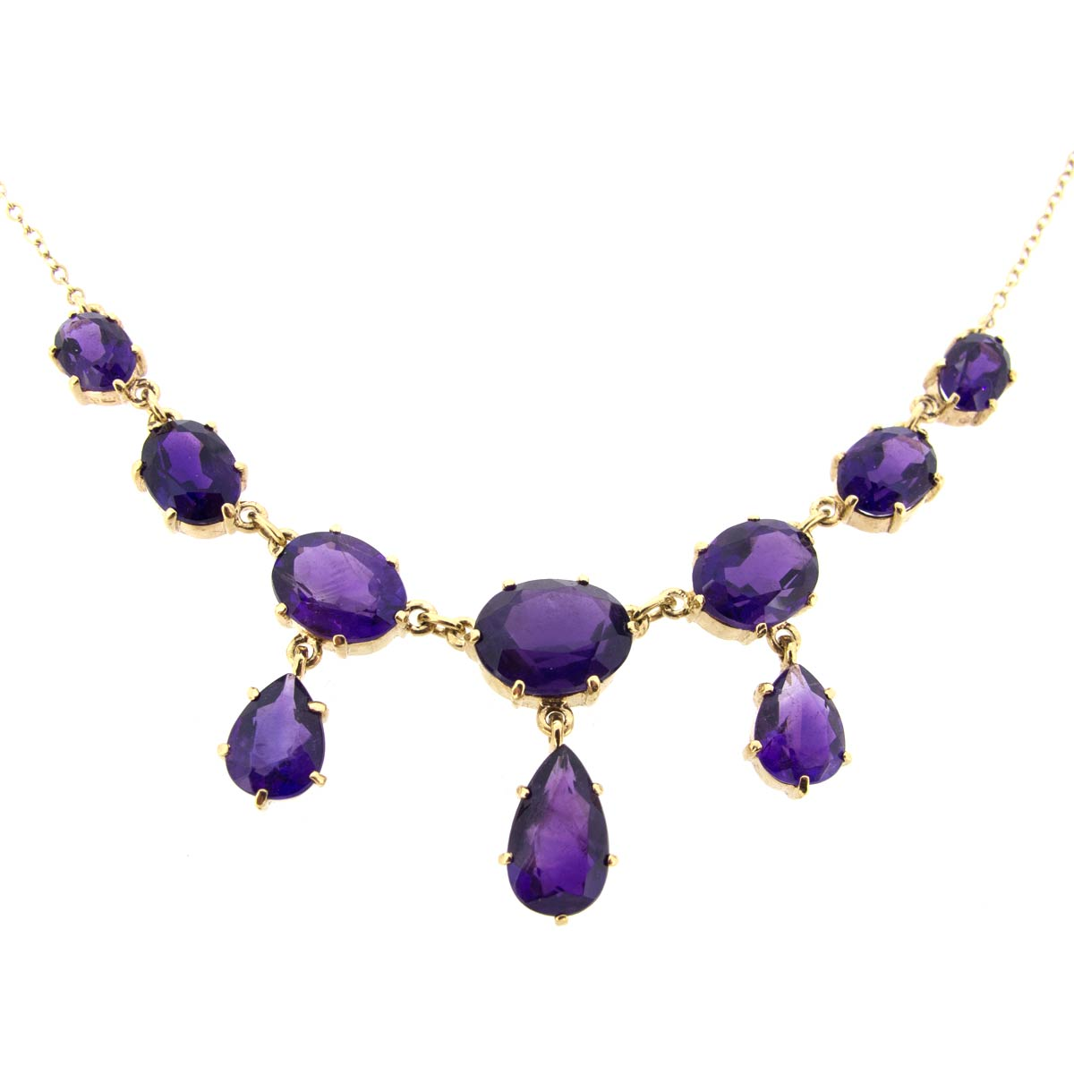 Gold & Amethyst Necklace