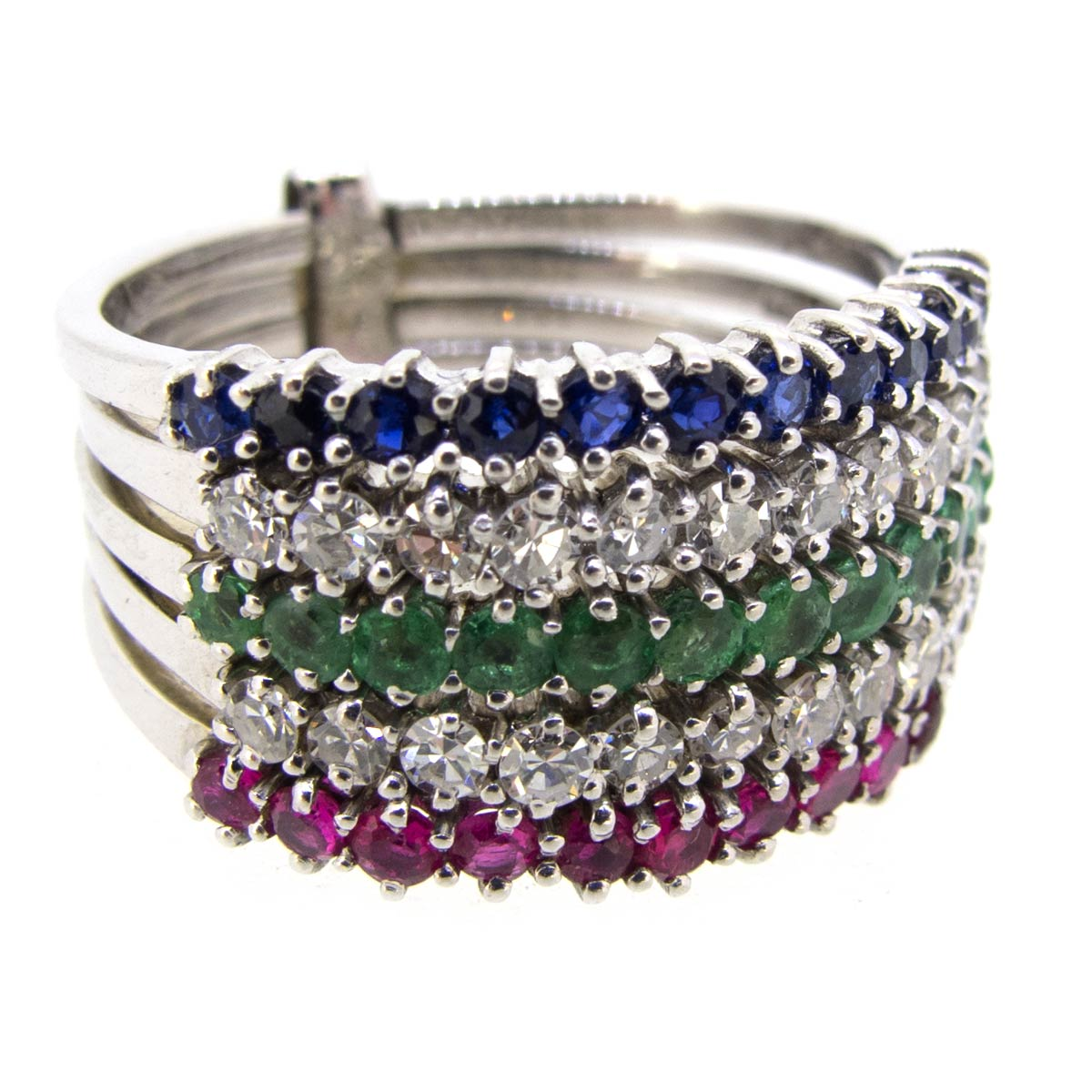 Multi Band Gem Ring