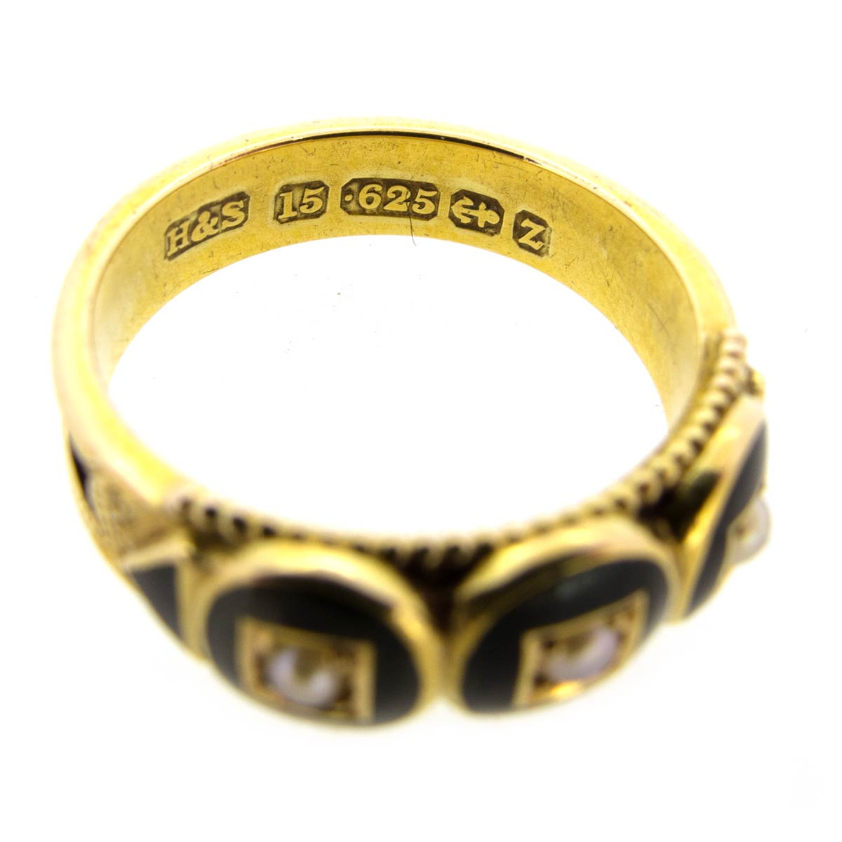Victorian Enamel Mourning Ring