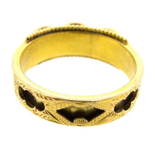 Victorian Enamel Mourning Ring