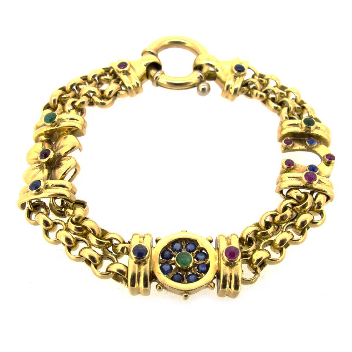 Gold & Gem Bracelet
