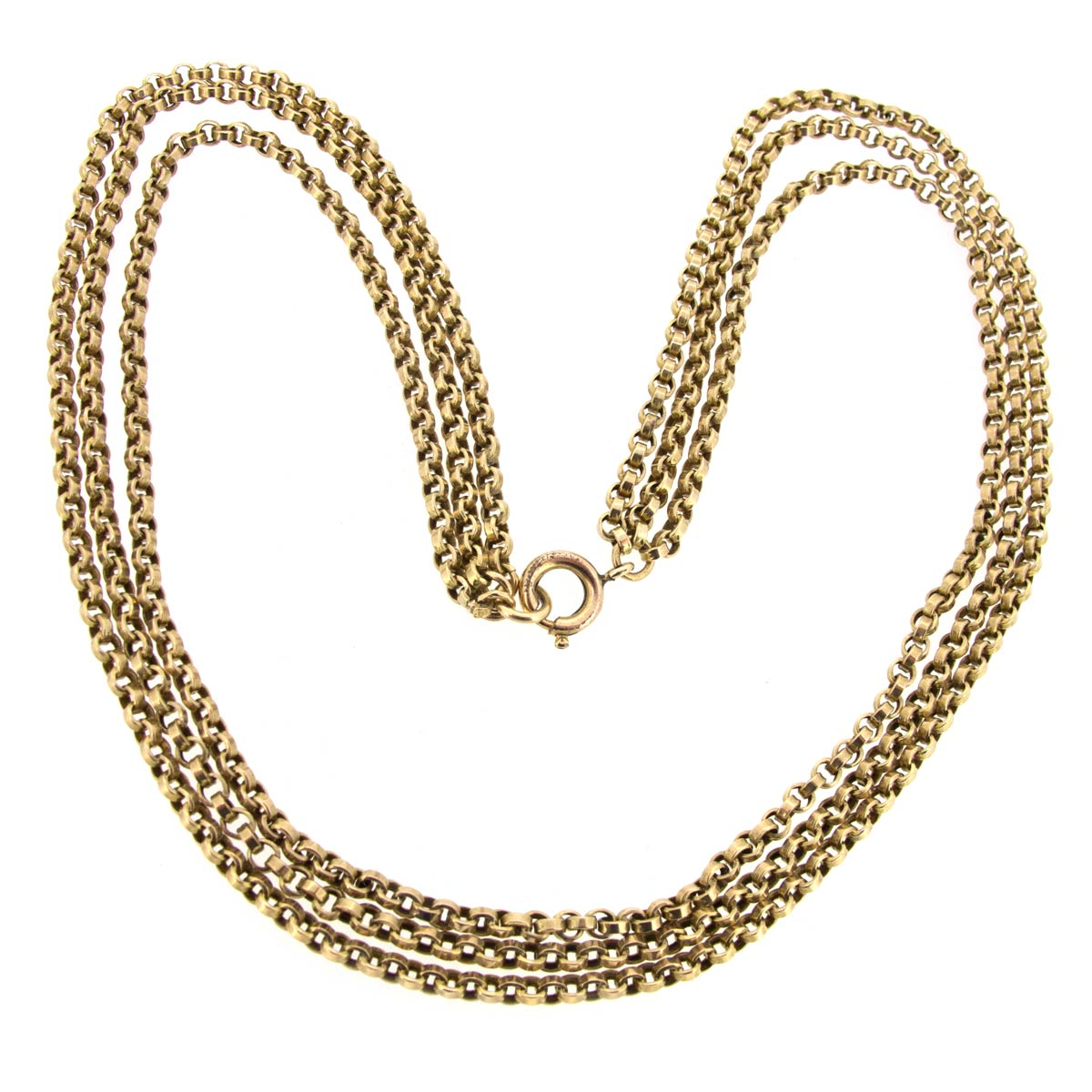 Triple Row Gold Necklace
