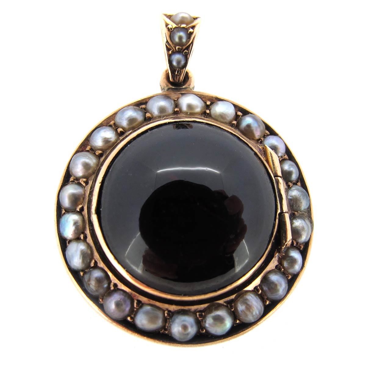 Antique Garnet & Pearl Locket